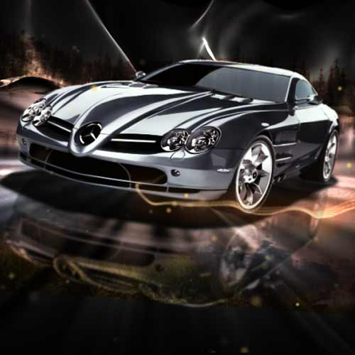 CG animation and compositing for Mercedes-Benz 300 SLR