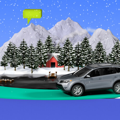 Animated commercial for Toyota Rav4 Prius Tundra Camry Corolla